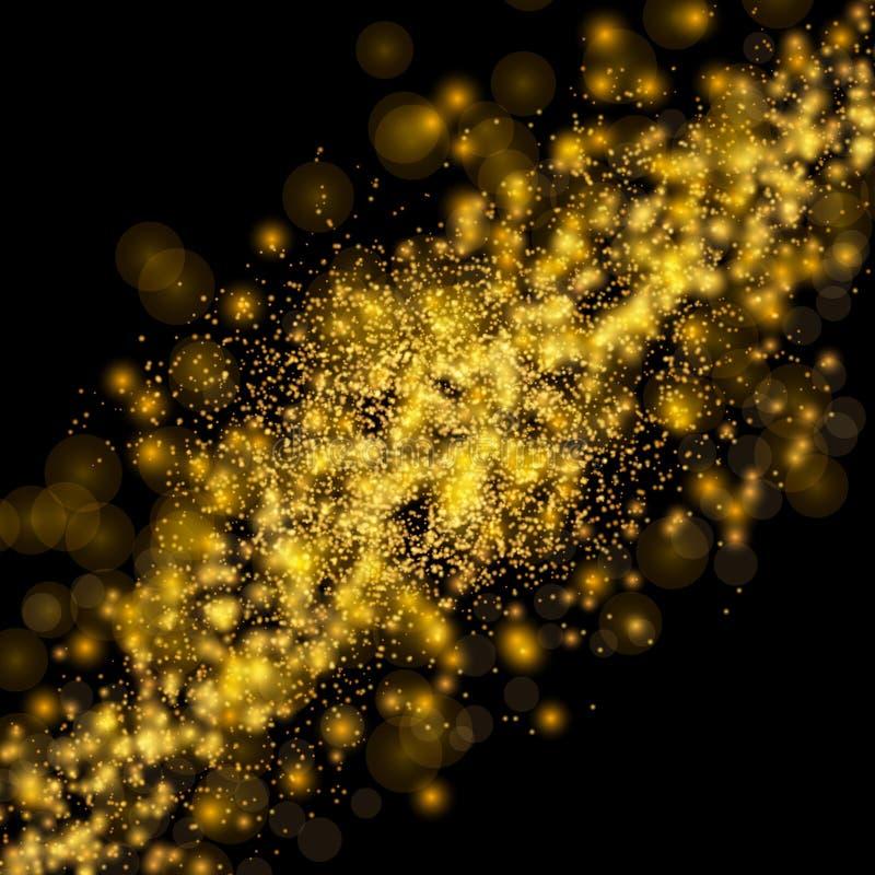 Fondo brillante brillante del espacio del extracto del universo Bokeh Eleg ilustración del vector