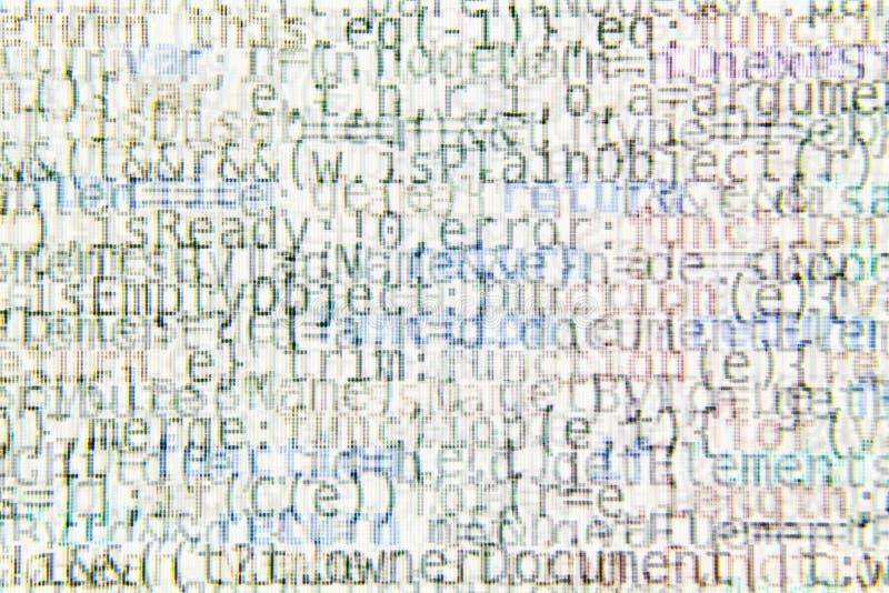Fondo brillante del extracto del código de programa imagen de archivo libre de regalías