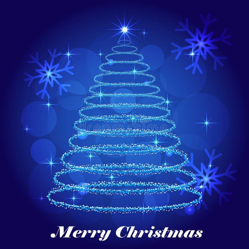 Fondo brillante del invierno del árbol de navidad libre illustration