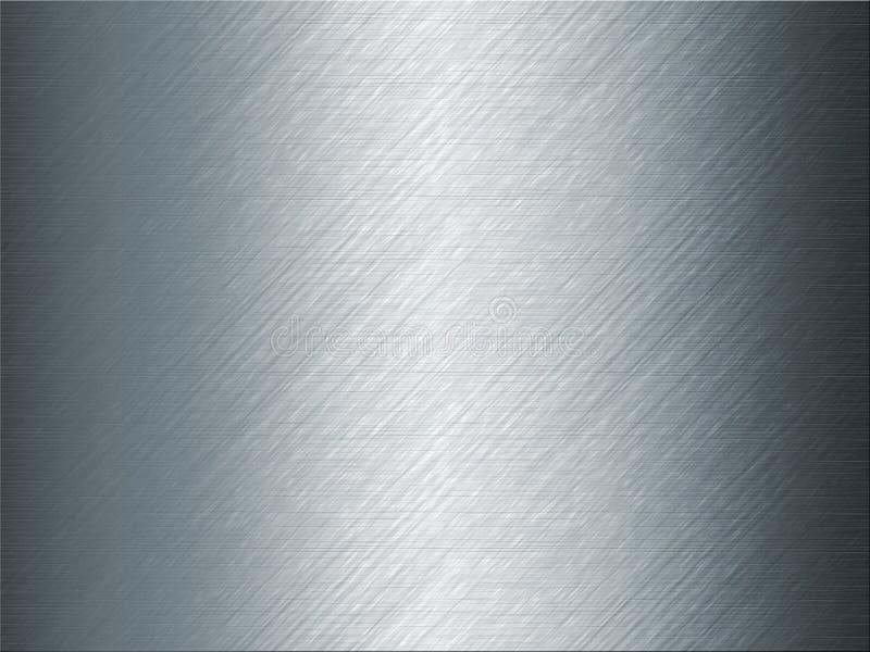 Fondo Brillante Del Metal Del Gris Azul Stock De