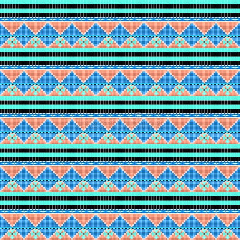 Fondo brillante del modelo geométrico étnico tribal abstracto ilustración del vector