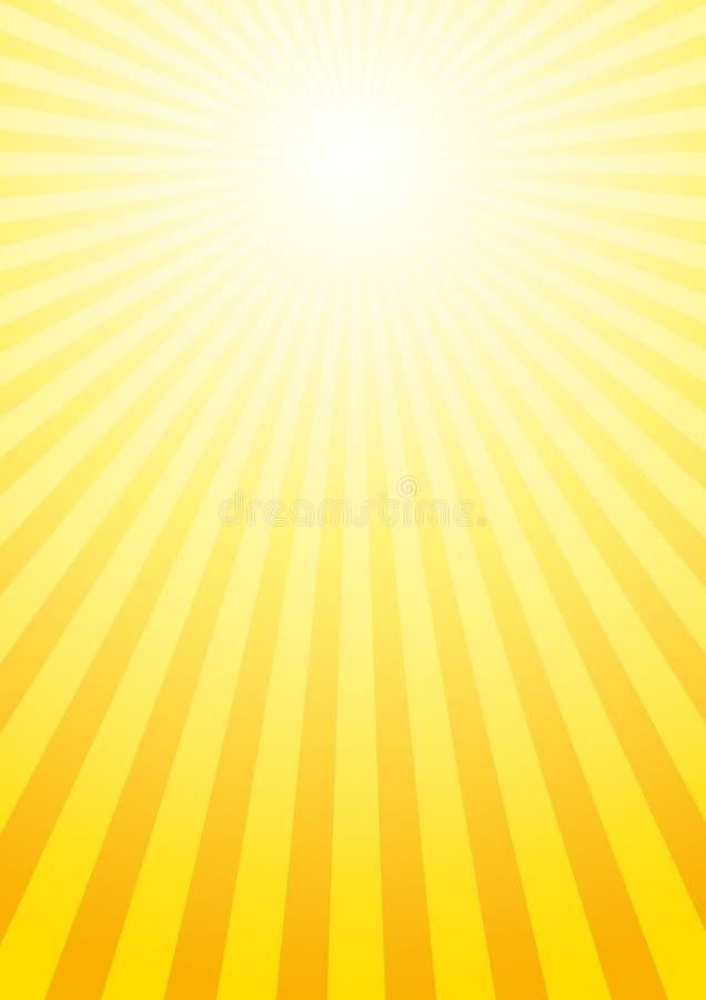 Fondo brillante del sol ilustración del vector