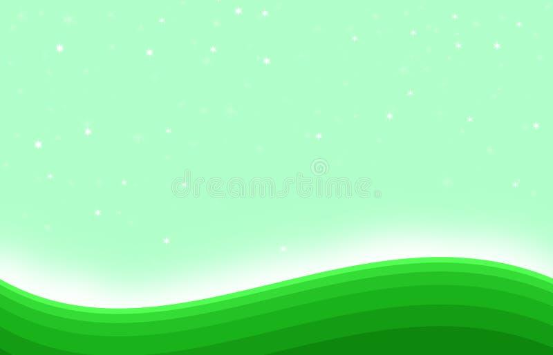 Fondo brillante di arte di forma della collina verde immagini stock