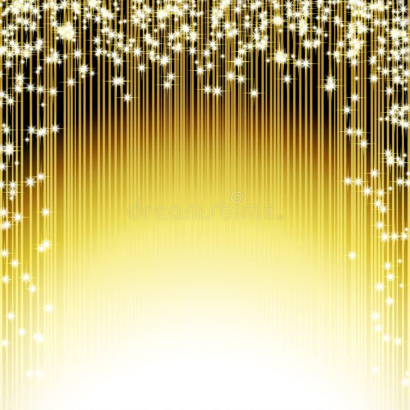 Fondo brillante dorato brillante illustrazione di stock
