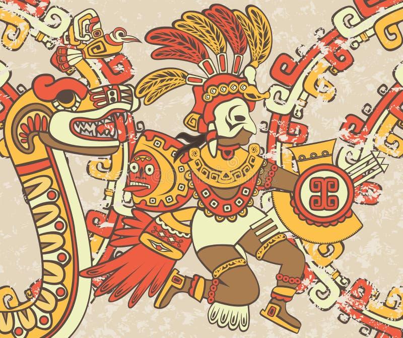 Fondo brillante en el estilo azteca libre illustration