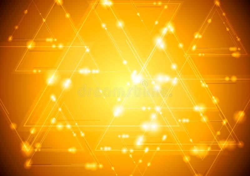 Fondo brillante giallo di tecnologia illustrazione vettoriale