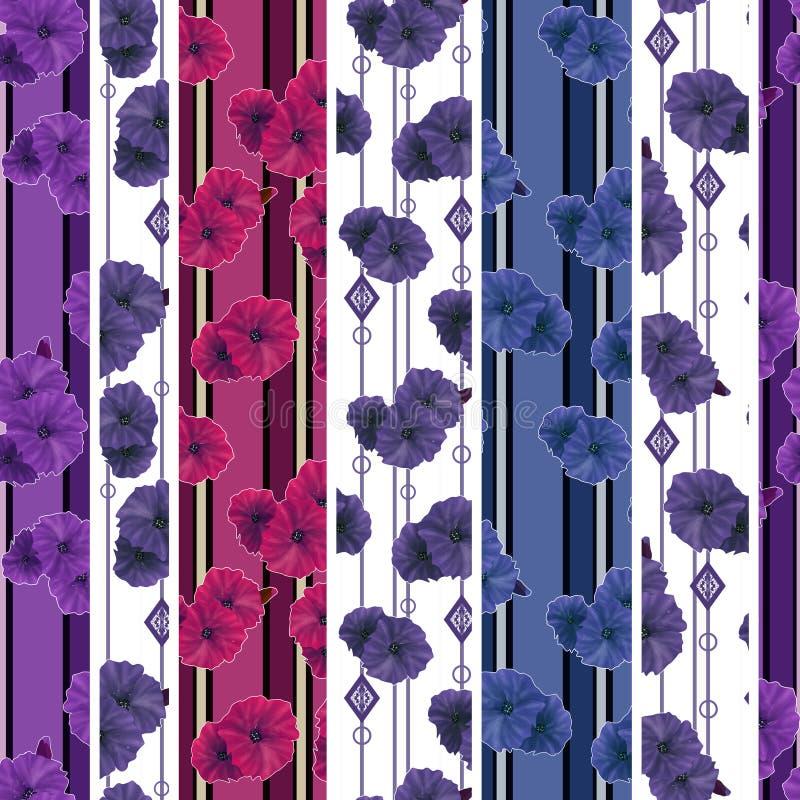 Fondo brillante inconsútil del modelo de flores de la amapola libre illustration