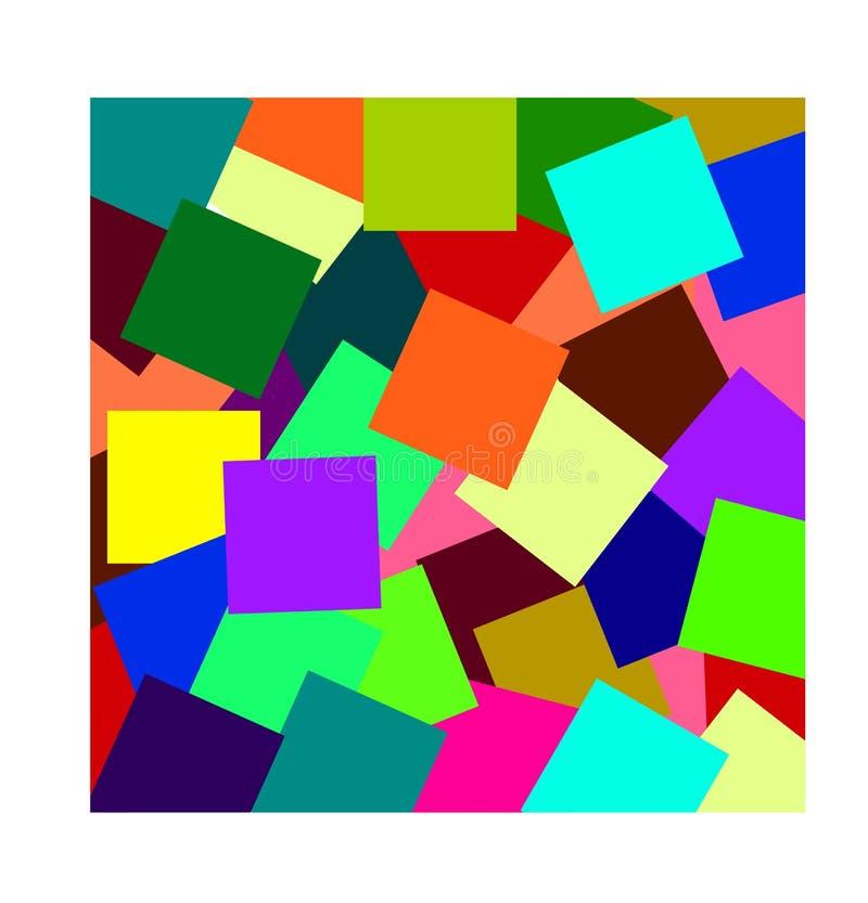 Fondo brillante moderno colorido abstracto en estilo geométrico foto de archivo libre de regalías