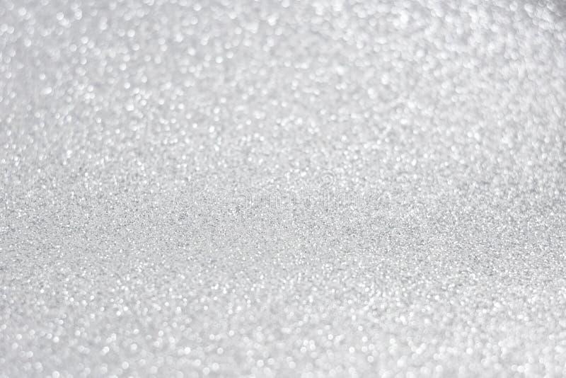Fondo brillante reluciente del extracto de la plata de las luces fotografía de archivo