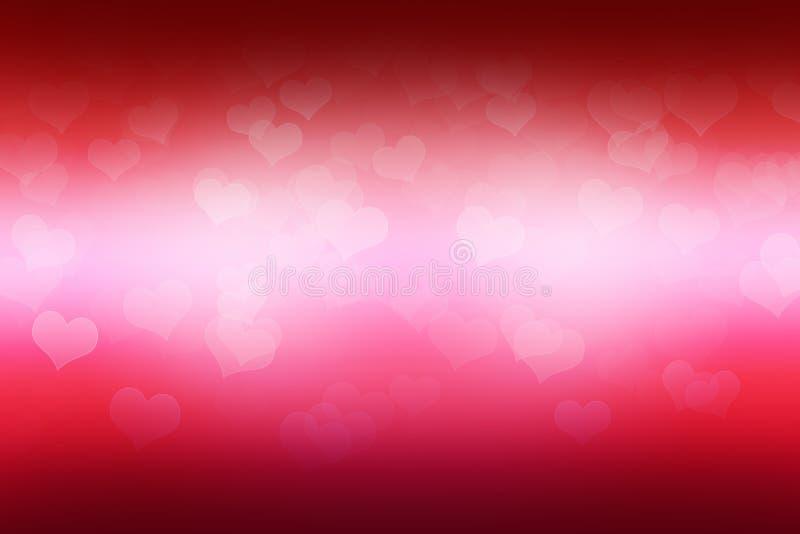 Fondo brillante rojo con los corazones. libre illustration