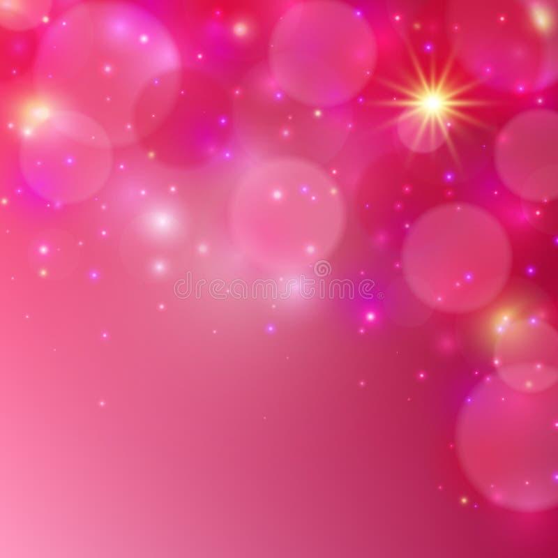 Fondo brillante rosado Fondo abstracto del vector Ilustración del vector ilustración del vector