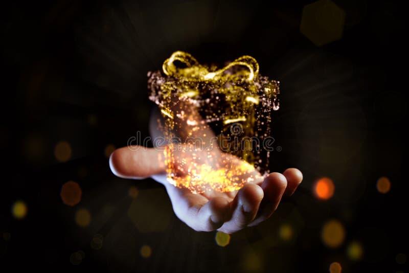 Fondo brillante y brillante de la Navidad del misterio foto de archivo libre de regalías