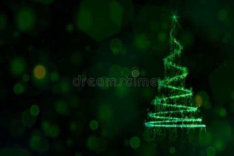 Fondo brillante y brillante de la Navidad del misterio foto de archivo