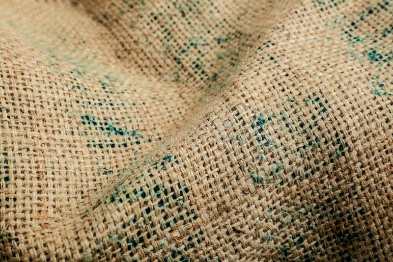 Fondo Brown di struttura del sacco, tessuto fotografie stock libere da diritti