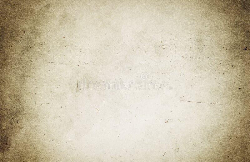 FONDO BROWN, struttura di carta beige, polvere, graffi, franco di LERCIUME illustrazione vettoriale