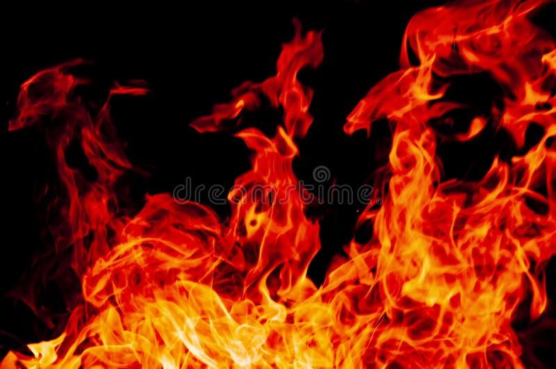 Fondo bruciante della fiamma fotografie stock
