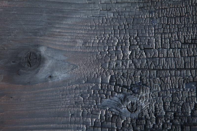 Fondo bruciato di legno fotografie stock libere da diritti