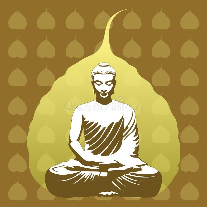 Fondo budista stock de ilustración