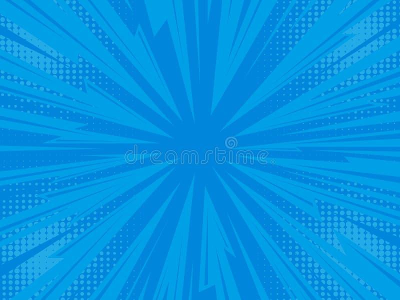 Fondo cómico del relámpago ilustración del vector