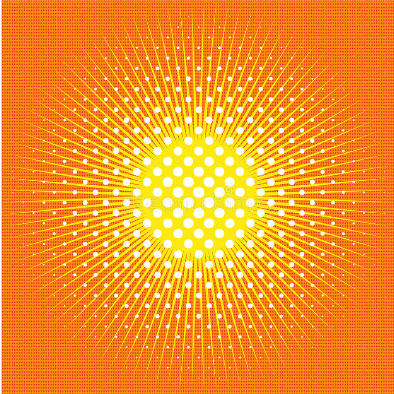 Fondo cómico retro del arte pop con el sol, rayos, sol libre illustration