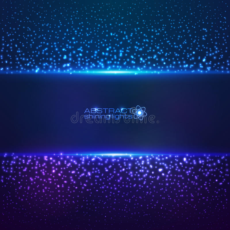 Fondo cósmico azul del abctract del polvo de estrella ilustración del vector