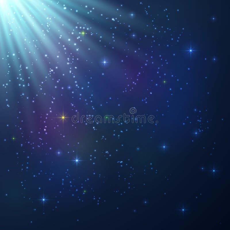 Fondo cósmico brillante colorido brillante libre illustration