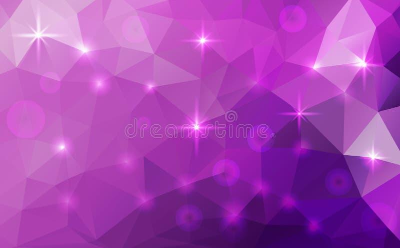 Fondo cósmico poligonal abstracto del vector ilustración del vector