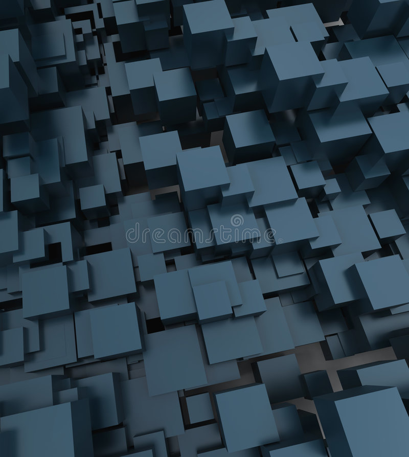 Fondo cúbico abstracto ilustración del vector