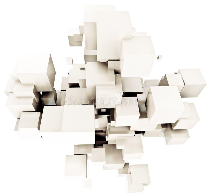 Fondo cúbico blanco ilustración del vector