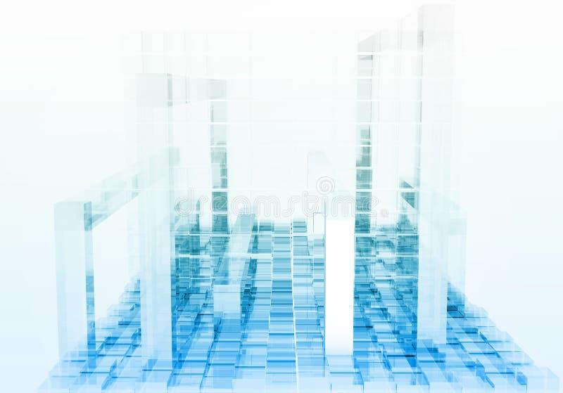 Fondo cúbico blanco abstracto - representación 3D stock de ilustración