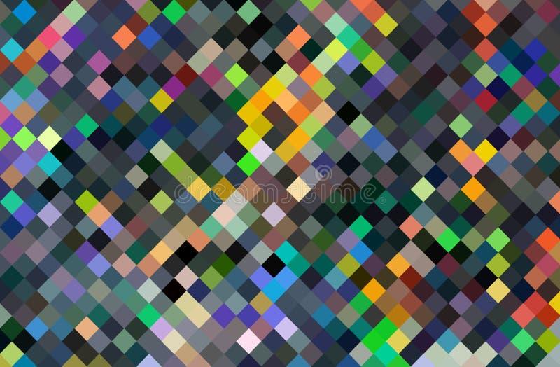 Fondo caótico del mosaico del arte del pixel Modelo abstracto multicolor libre illustration