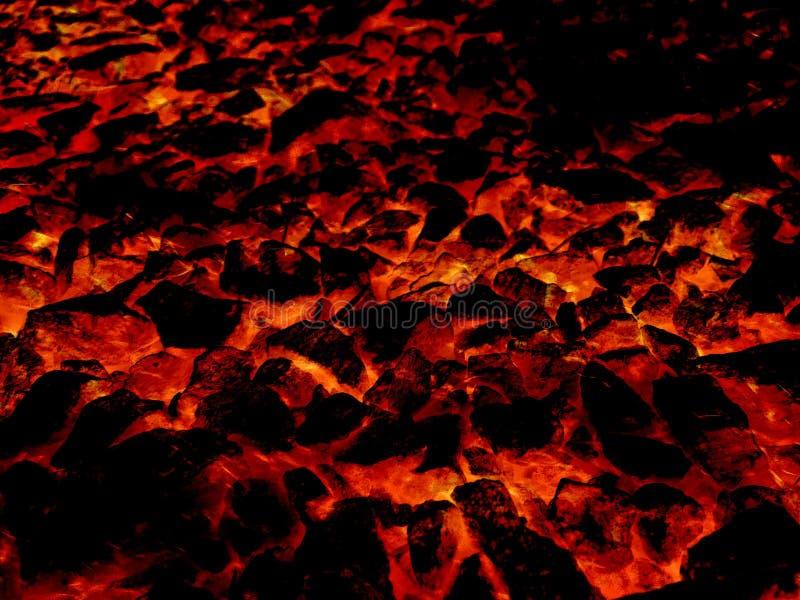 Fondo caliente del modelo del extracto del fuego de la lava del arte ilustración del vector