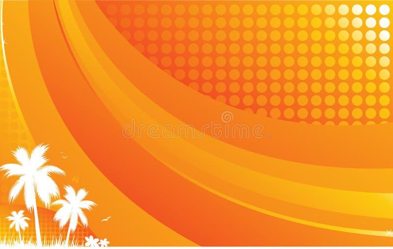 Fondo caliente del verano stock de ilustración