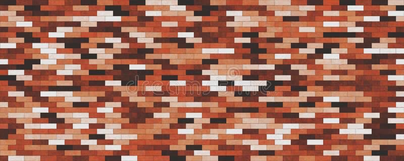 Fondo casuale di struttura del muro di mattoni illustrazione di stock