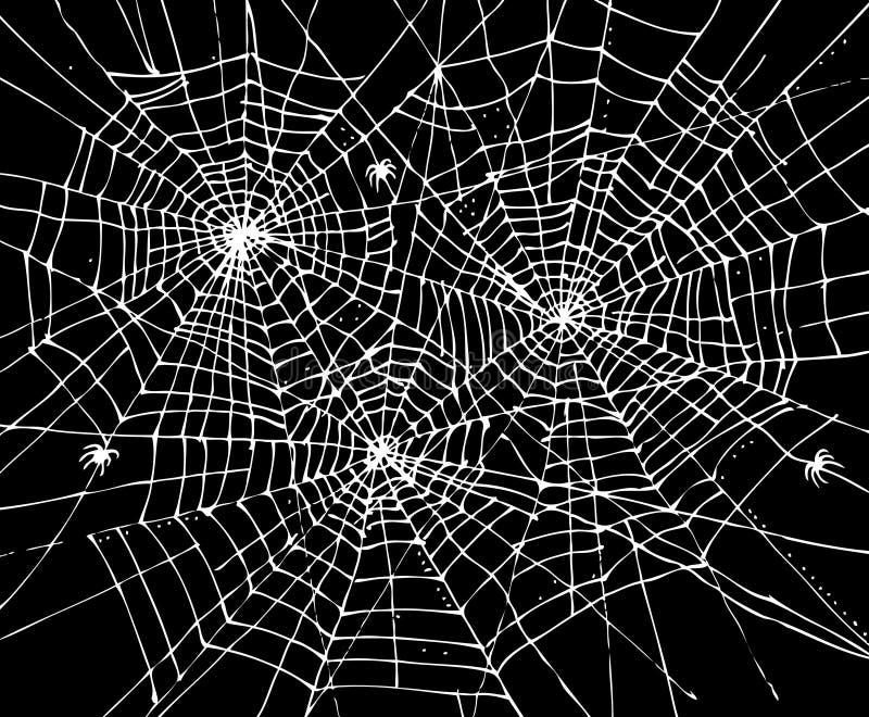 Fondo CCCVII di web di Halloween illustrazione di stock