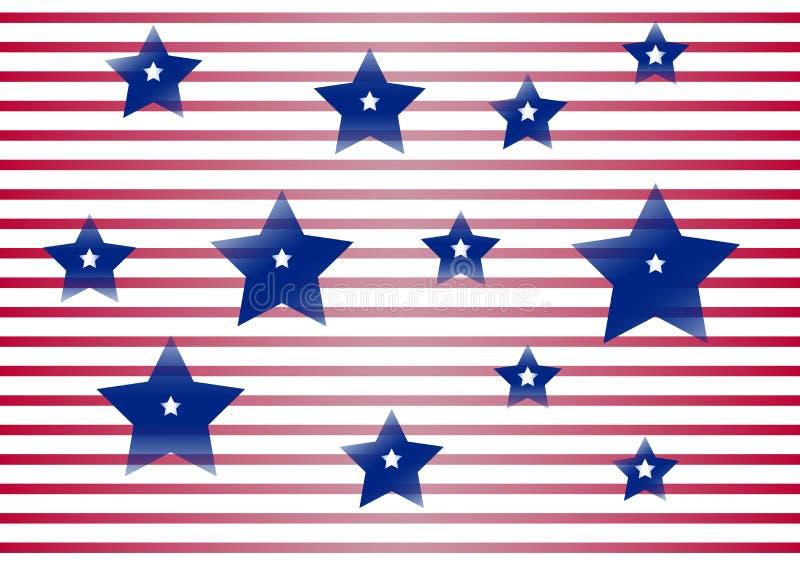 Fondo celebrador para el Día de la Independencia y el día del patriota de los Estados Unidos de América Vector stock de ilustración