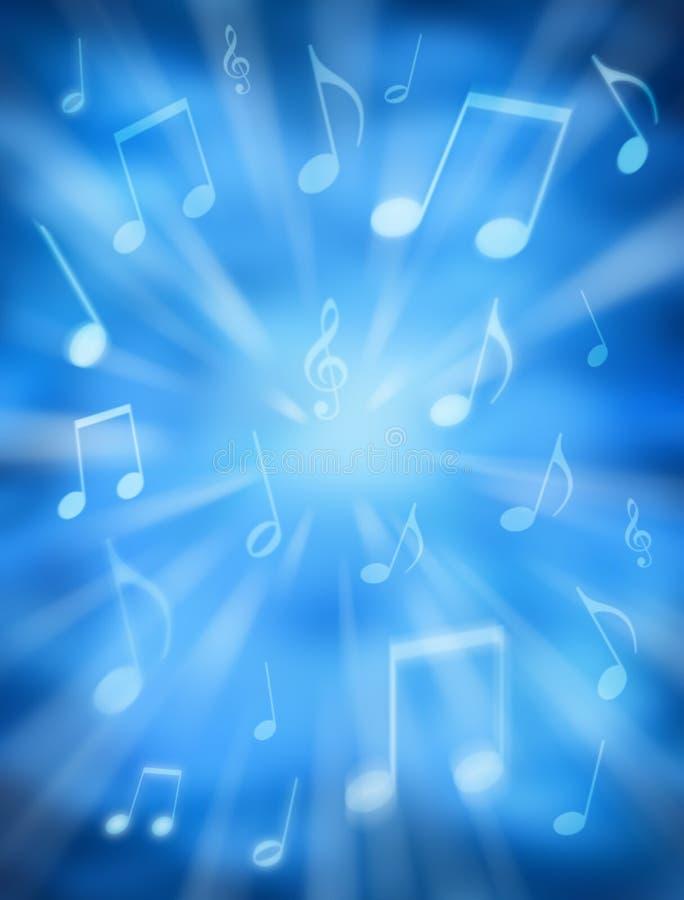 Fondo celeste de la música