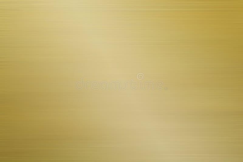 Fondo cepillado aluminio del oro