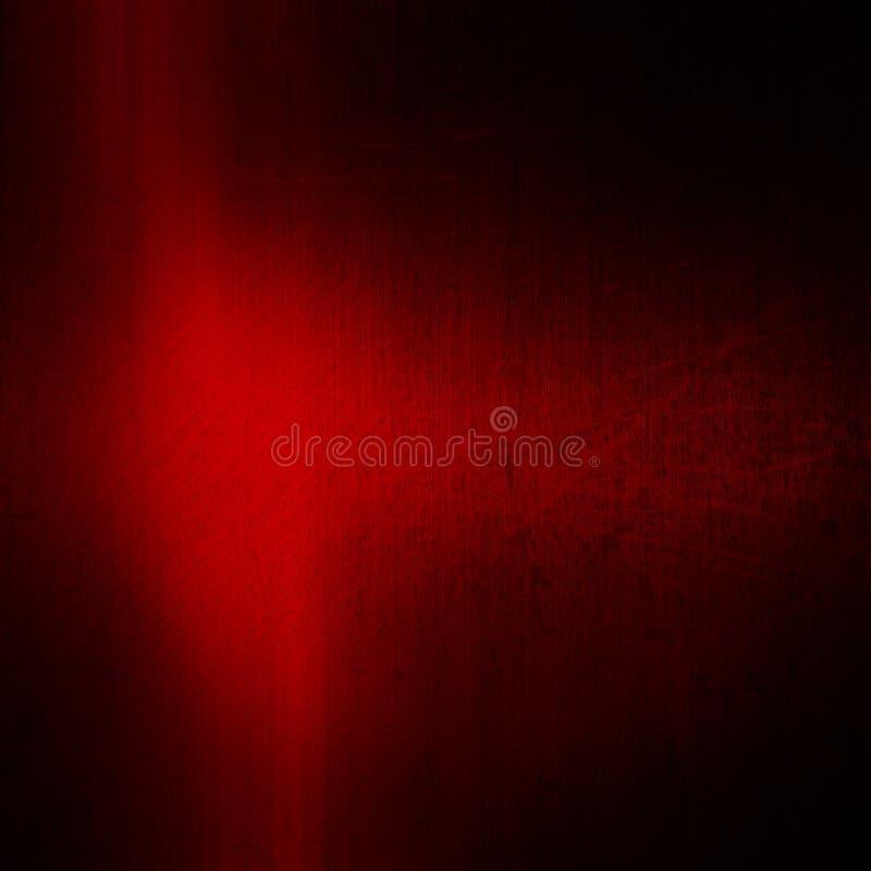 Fondo cepillado grunge rojo del metal ilustración del vector