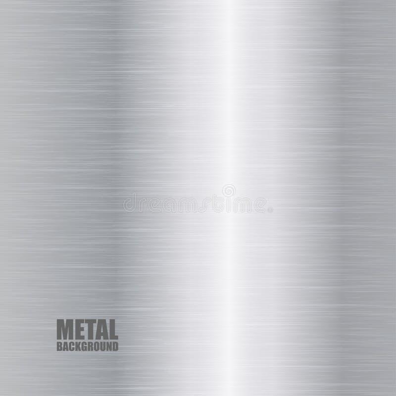 Fondo Cepillado Plata De La Textura Ilustración del Vector ...