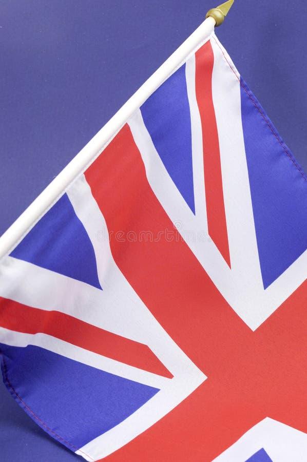 Fondo cercano para arriba de la bandera de británicos Union Jack - vertical fotos de archivo