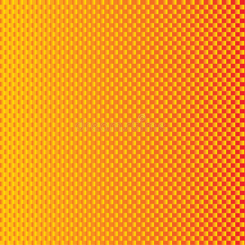 Fondo Checkered coloreado fuego stock de ilustración