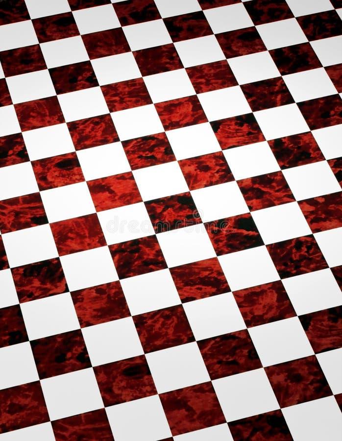 Fondo Checkered de mármol rojo fotos de archivo