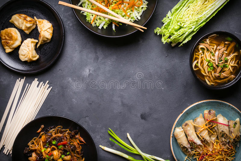 Fondo chino de la comida foto de archivo