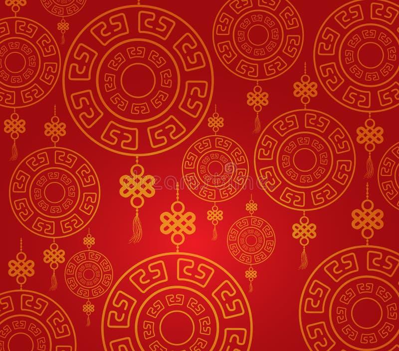 Fondo chino del modelo del Año Nuevo ilustración del vector