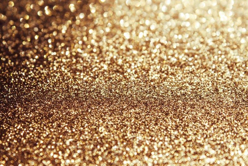 Fondo chispeante de oro fotografía de archivo libre de regalías