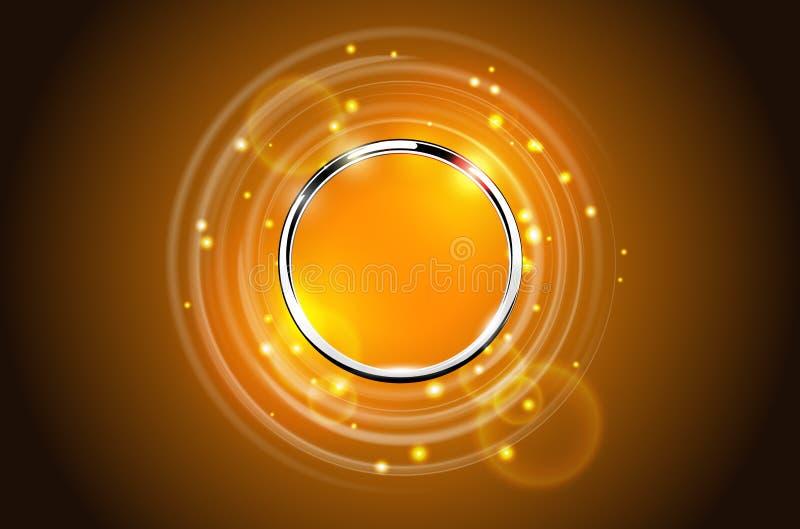 Fondo chispeante del anillo abstracto moderno del metal stock de ilustración