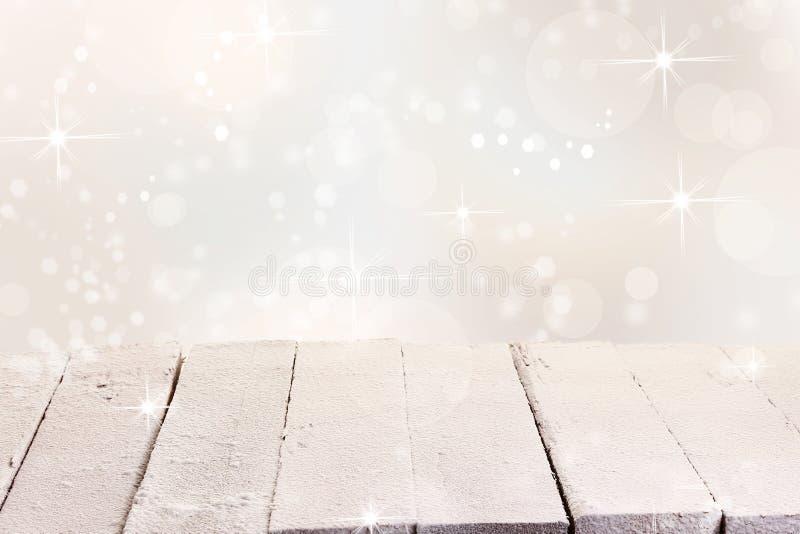 Fondo chispeante del invierno para la colocación del producto fotografía de archivo