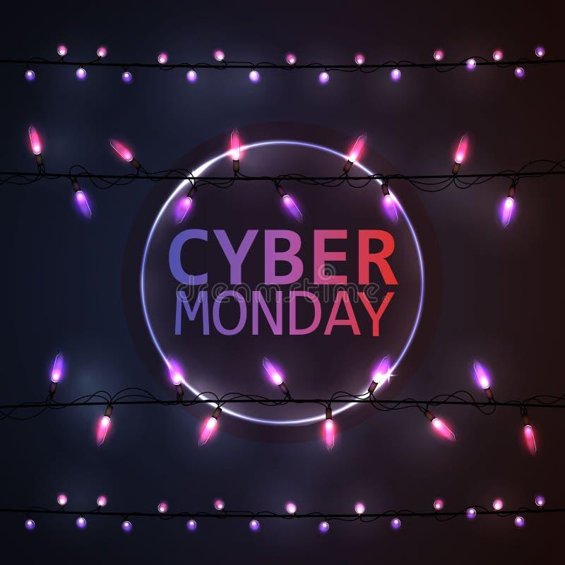 Fondo cibernético de lunes foto de archivo libre de regalías