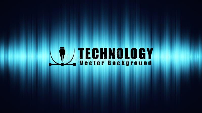 fondo cibernético del vector de la tecnología del elemento, fondo del negocio de la conexión a internet de la velocidad, represen libre illustration